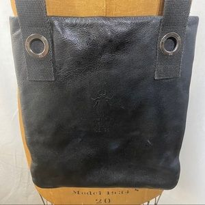 FLY LONDON Black Leather Crossbody Bag Purse Tote